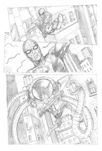 Spider-Man-comic-page-pencils-george-todorovski