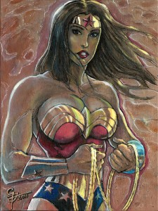 Wonder-Woman-Acrylic-On-Sturdy-Canvas-Board